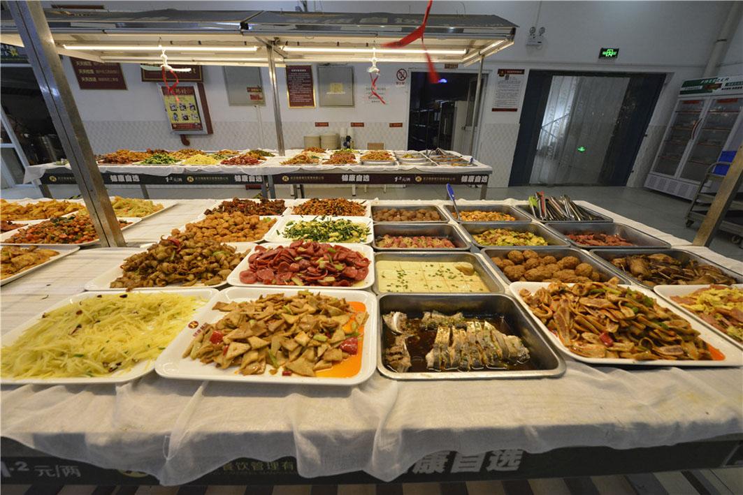 食堂丰盛的自选菜