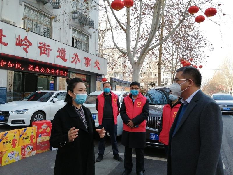 省委党史研究室副主任张守四到杜岭街道办事处慰问一线防控人员