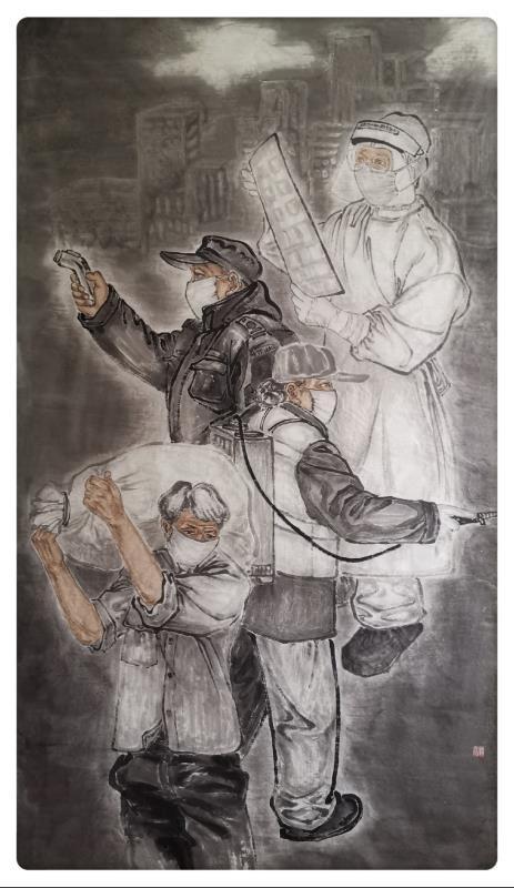 《最美的你》王倩 中国画 96×172