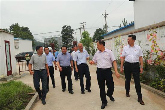 省委党史研究室主任修振环到太康县板桥镇后席村调研指导