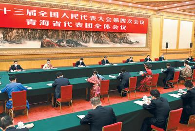 习近平在参加青海代表团审议时强调  坚定不移走高质量发展之路 坚定不移增进民生福祉