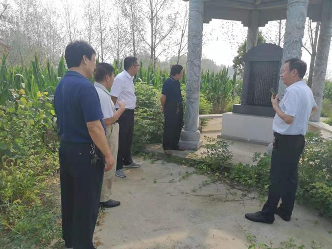 南阳市社旗县委党史研究室到红九军战斗遗址开展调研