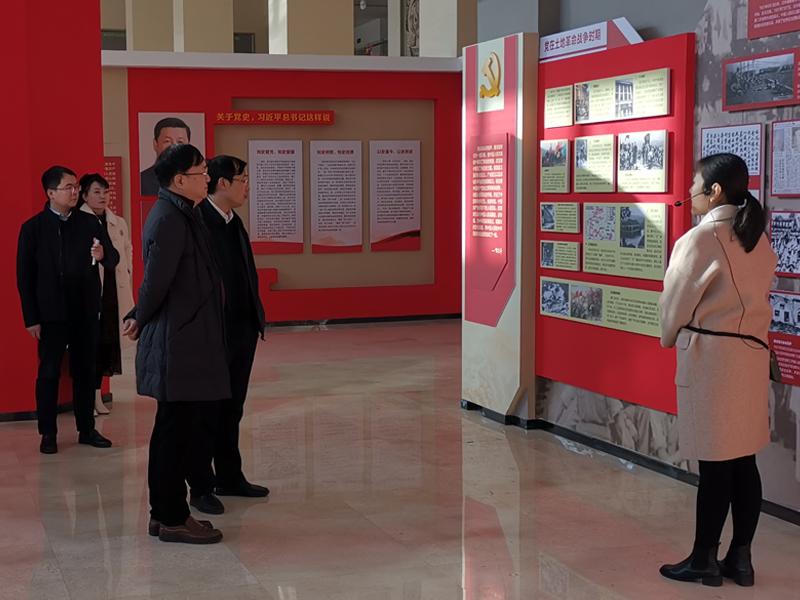 许昌市委党史研究室副主任王民生到魏都区调研党史教育基地建设工作