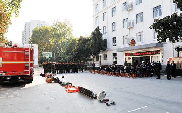 省委党史研究室积极参加省委机关消防安全知识宣传活动